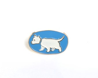 Westie, dog pin, pet, white terrier, dog brooch, backpack pin, lapel pin, cute pins, enamel pin, cute dog, west highland white terrier