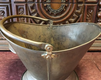 """Farmhouse Chic Brass Coal Bucket Got it at The Plastic Flamingo I've been naughty!Got Coal? Useable Decor """"Even coal shimmers in the light"""""""