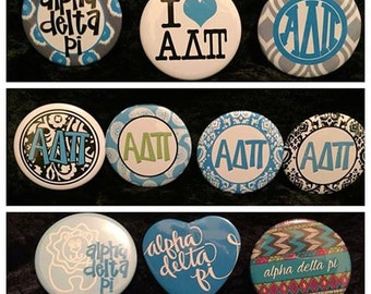 Alpha Delta Pi Buttons (10 to choose from) more buttons available www.thesororityspot.com