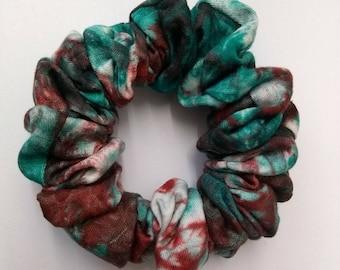 Tie Dye Cotton Hair Scrunchie
