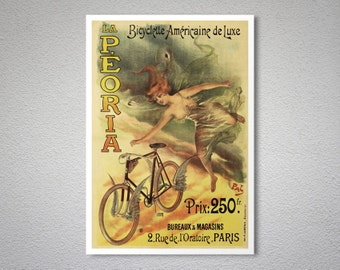 La Peoria Vintage Bicycle Poster - Art Print - Poster Print, Sticker or Canvas Print / Gift Idea