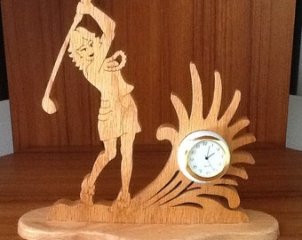 Female Golfer Mini clock