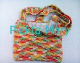 handmade bag,crochet girl bag,girl accessories,yellow color bag,green color bag,orange color bag,girl gifts,Handbags,cotton.summer, #etsy