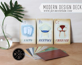 Open Edition -  Modern design deck actual flash card set