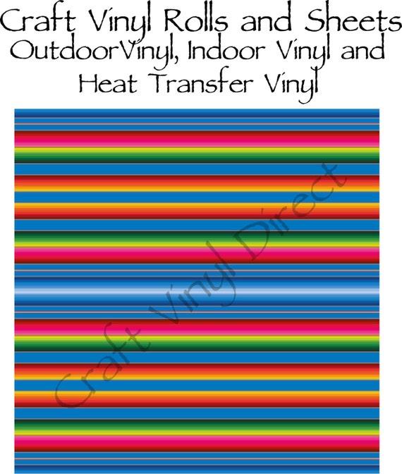 Beautiful, Vibrant Patterned Craft Vinyl and Heat Transfer Serape Pattern 228