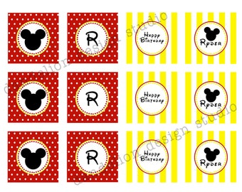 PRINTABLE Party Tags - Mickey Mouse Party Collection - Dandelion Design Studio
