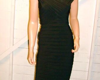 Adrianna Papell Black Body Con Dress 6