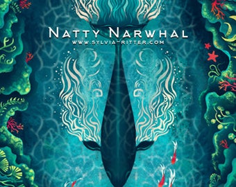 Natty Narwhal - Large Signed Giclée Print