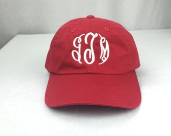 Custom Monogram unstructured cap