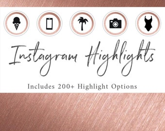 200+ Instagram Highlight Icon Covers | Bundle Set Template Options