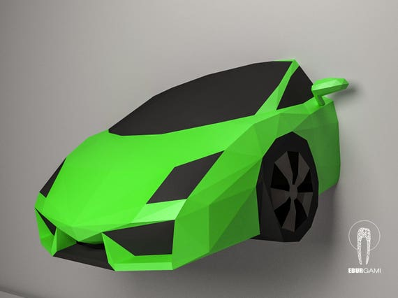 Car Papercraft, Lamborghini Gallardo 3D Papercraft, Build Your Own Low Poly  DIY Paper Sculpture Mask DIY Gift, Wall Decor Home, Eburgami