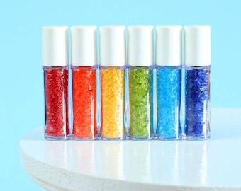 Mini Happy Rainbow Sprinkles Set, Mini Sparkling Sugar Set, Rainbow Sparkling Sugar, Sparkling Sugar Sampler, Sprinkle Sampler, Party Favor