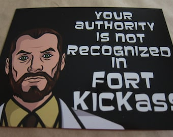 Archer - Fort Kickass Postcard