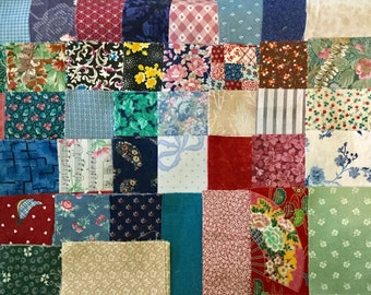"100+ Cotton Quilt Fabric Blocks Squares, 4"" & 4 1/2"" Charm, Doll....."