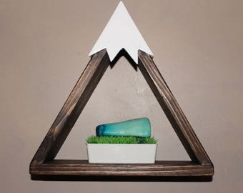 Mountain triangle shelf in ebony wood