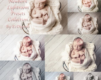 Newborn Lightroom Presets Collection of 50 Lightroom Baby and Portrait Presets