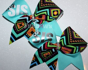 Big Sis Lil' Sis Cheerleading Hairbow SET by Funbows