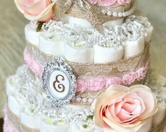 Girl diaper cake Etsy
