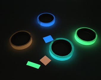 Glow-in-the-Dark Tape ~ Four Awesome Colors ~ 30 Feet per Roll