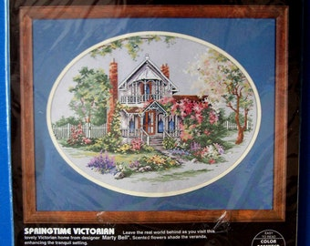 SPRINGTIME VICTORIAN Vintage Dimensions Cross Stitch Kit - Designer Marty Bell New in Package