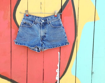 Vintage 1990s Jordache Stone Washed Denim Shorts (YOUTH Size 10/12)