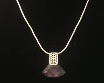 Delicate Natural Fluorite Pendant