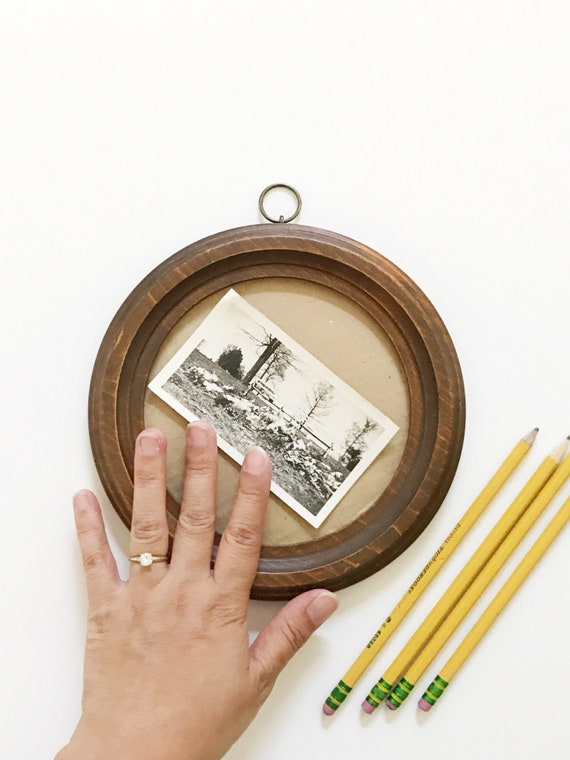 small circle wood picture frame | wall hanging picture frame