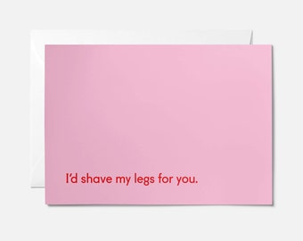 Funny Anniversary card - Anniversary card for boyfriend -  Funny anniversary boyfriend - Anniversary card husband - Love card - Shave