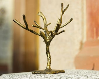 Stand for keys or bijouterie in the form of a winter tree (forging steel) Art decor.