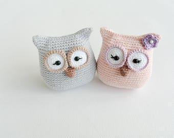 Crochet Owl Pattern, PDF, Amigurumi, English and German