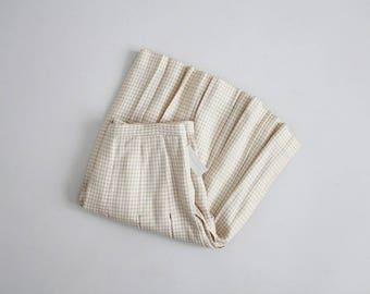 muted houndstooth skirt | pleated tennis skirt | high waist pleated skirt