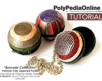 Polymer Clay Tutorial, DIY Bead, Polymer Clay Jewelry, Fimo Jewelry, Crafting Polymer Clay, KIT, Pdf Tutorial, Video Tutorial, Free Shipping