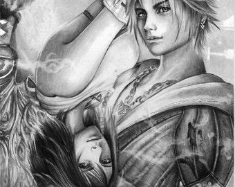 Final Fantasy X Original Pencil Drawing