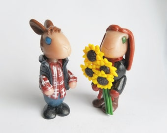 Amy Pond and Rory Williams inspired rabbits from Doctor Who