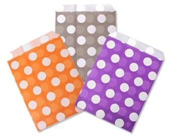 Pack 20 Envelopes Polka Dots paper-orange, grey or purple