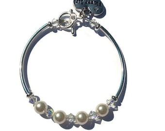 Flower girl bracelet, flower girl gift, flower girl jewelry, wedding jewelry, children's jewelry, girls bracelet, kids wedding jewellery