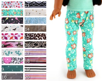 Fits like Wellie Wishers Doll Clothes - Leggings, You Choose Print | 14.5 Inch Doll Clothes