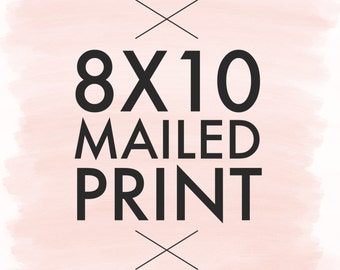 8x10 Bloom Handlettering Mailed Print