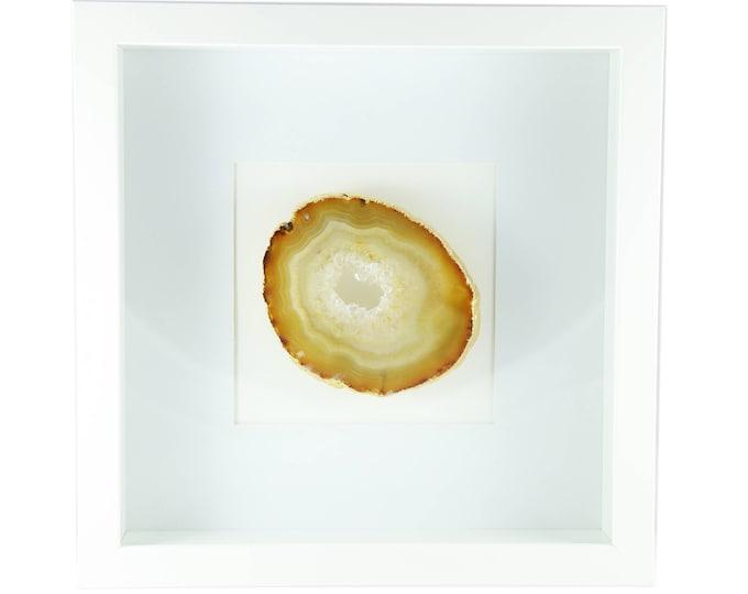 Framed Agate Slice--Natural Agate Art--Framed Natural Agate--10X10 Frame
