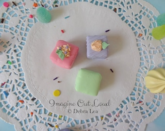 FAUX PETIT FOUR Fake Mini Cakes Tea Party Food Prop Photo Kitchen Decor
