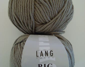 Pincushion 100g of Big cotton Lang Yarns khaki - 100% cotton - 80 m - 5 needles, 5-6