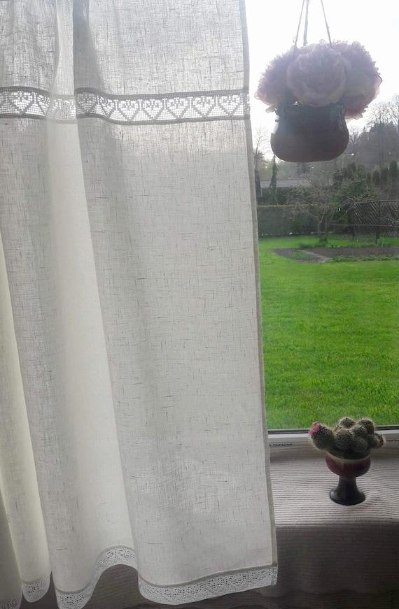 Leinen Gardinen weiße Vorhänge Küche Vorhänge Cafe Platten