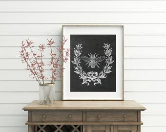 French Farmhouse, French Country, Vintage Bee, Printable, french country decor, vintage french, french country wall decor, printables, art