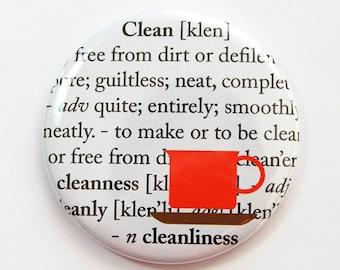 Dishwasher magnet, Clean Dishes, kitchen magnet, clean dishes magnet, Kitchen, Kellys Magnets, Clean, Cleanliness (3736)