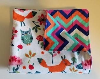 Baby/Toddler Blanket, Chevron, Animals, Rainbow, Baby Shower Gift