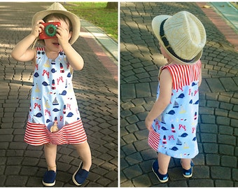BAA BAA Overall  Dress Girl Baby Girl sewing pattern Pdf, Girl Jumper Pinafore pattern, toddler dress, newborn up to 10 years