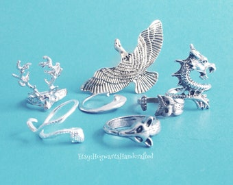 Pottermore Inspired Patronus Animal Rings, Harry Potter Jewelry - Expecto Patronum