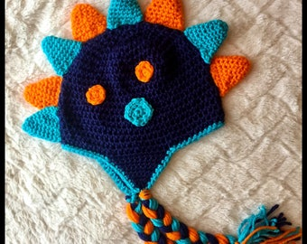 Crochet Dinosaur Hat 1-3 yrs READY TO SHIP