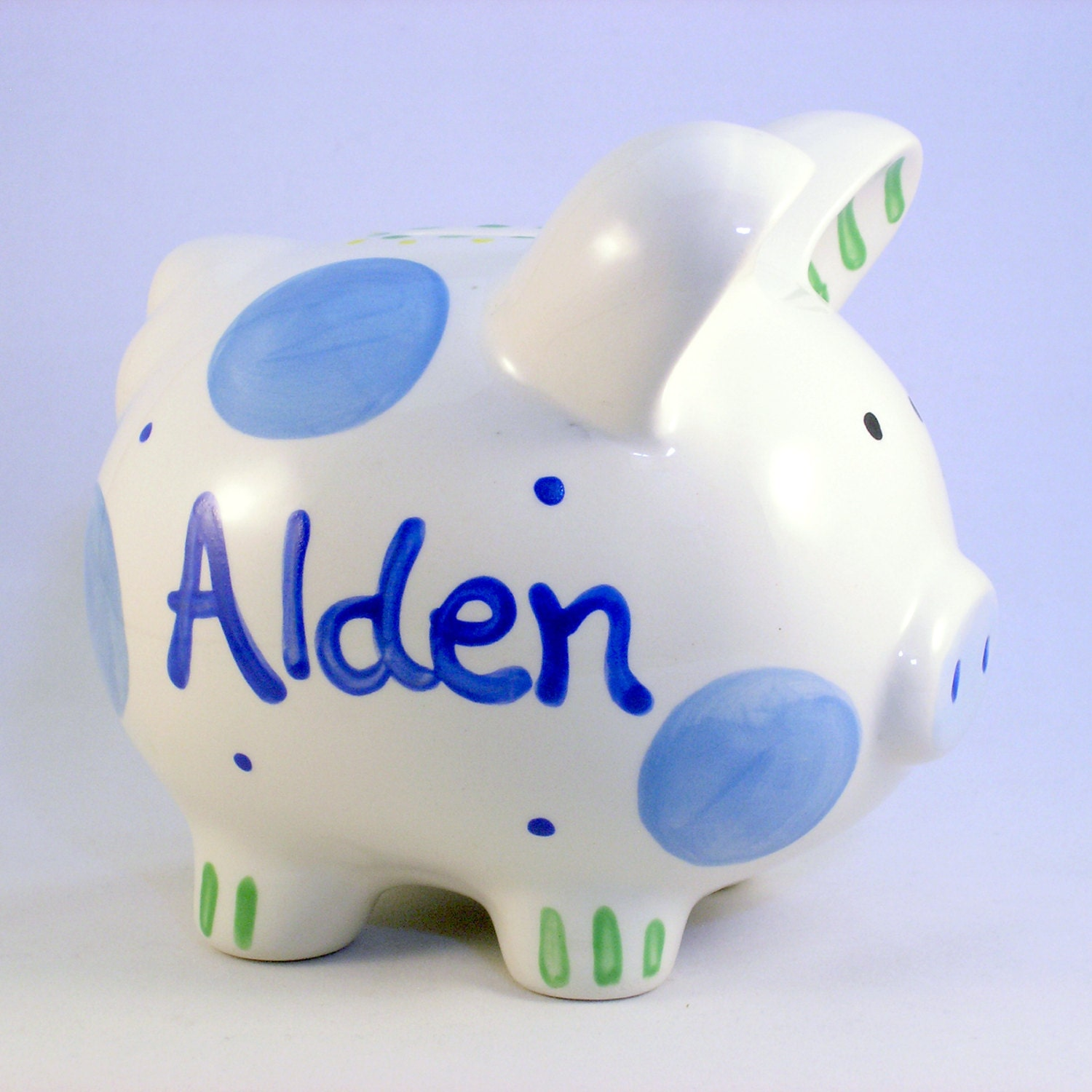 Personalized piggy bank boy piggy banks personalized ceramic personalized piggy bank boy piggy banks personalized ceramic piggy bank blue polkadot baby boy new baby gift hand painted ceramic negle Choice Image