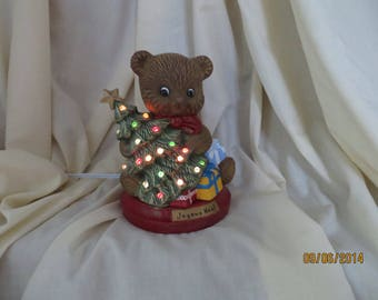 Christmas Teddy bear lamp